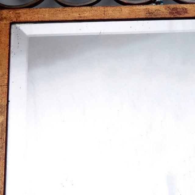 Glass Art Deco Gilt Iron Scroll Framed Rectangular Mirror For Sale - Image 7 of 7