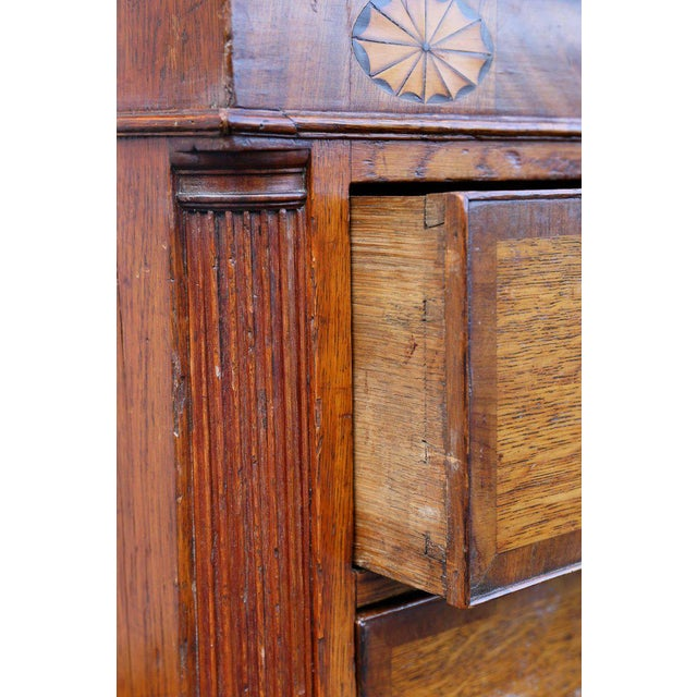 George III Oak and Mahogany Dresser or Sideboard For Sale - Image 5 of 10