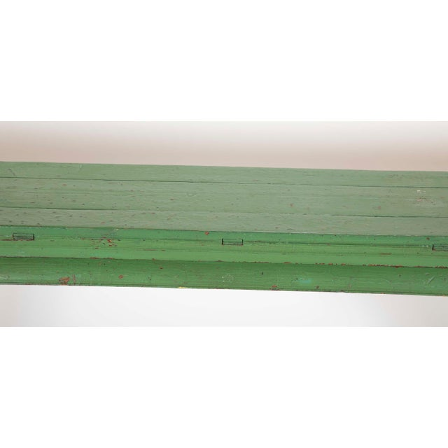 Green Painted Chinese Console Table, Large Scale For Sale - Image 10 of 13