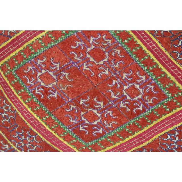 Floral Embroidered Antique Swati Pillow - Image 2 of 3