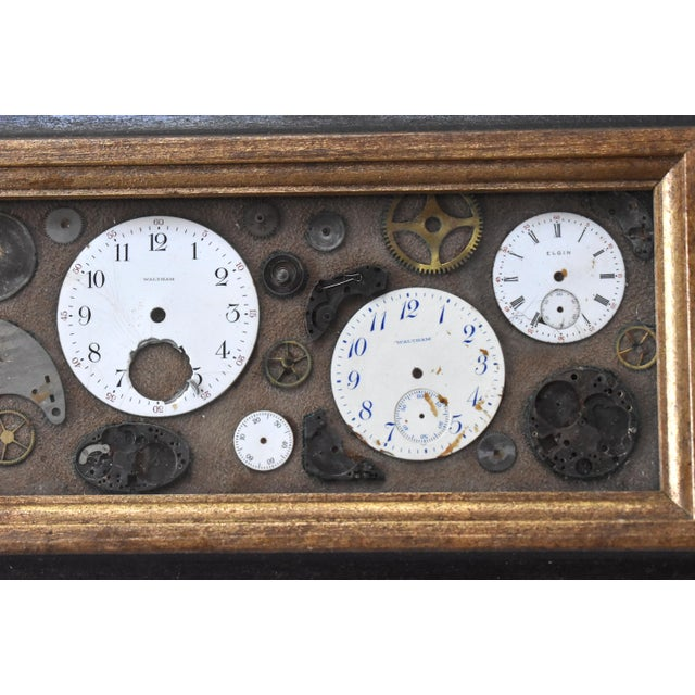 Mid 20th Century Mid-Century Lee Waterman Pocket Watch Collage For Sale - Image 5 of 7