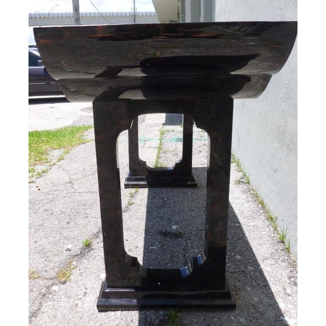 1970s Maitland Smith Tessellated Horn Console Table For Sale - Image 10 of 11