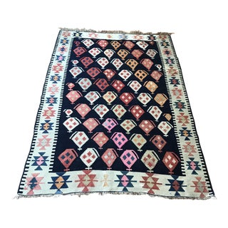Turkish Caucasian Antique Kilim Rug - 3′4″ × 5′1″ For Sale