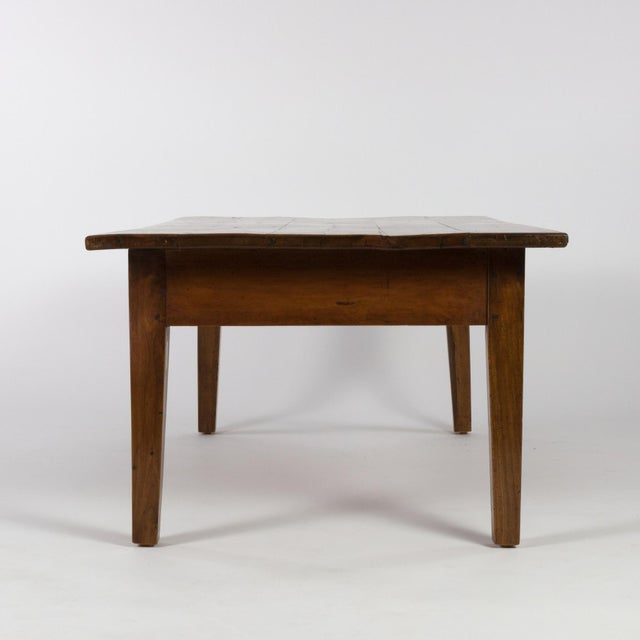 French 1870 French Walnut Low Table With Center Drawer For Sale - Image 3 of 8