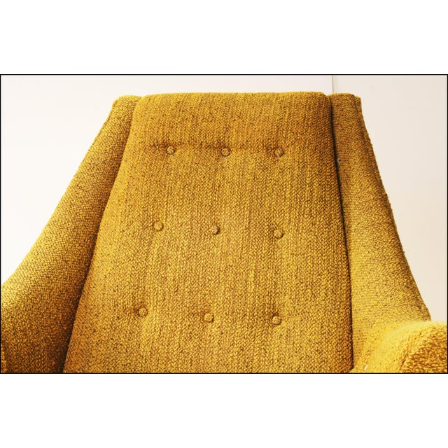 Mid Century Modern Upholstered Lounge Chair by Flexsteel - Image 4 of 11