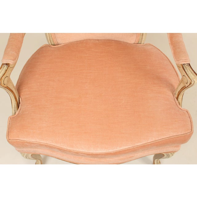 1980s Louis XV Style Painted Occasional Chairs - A Pair For Sale - Image 12 of 13