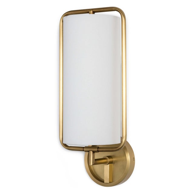 2020s Geo Rectangle Sconce (Natural Brass) For Sale - Image 5 of 5