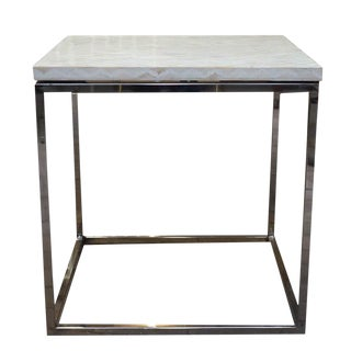 Contemporary Bone Inlay Accent Side Table For Sale