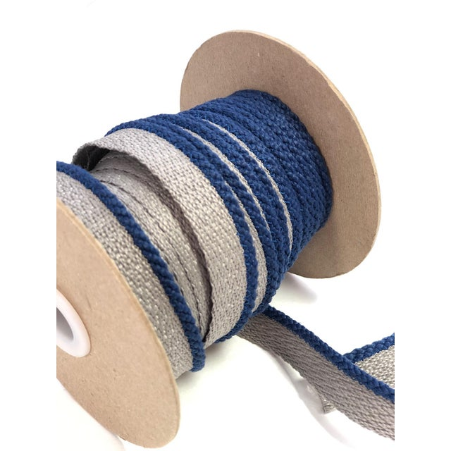 """Cabled 1/8"""" Indoor/Outdoor Blue Cord Trim For Sale - Image 4 of 9"""
