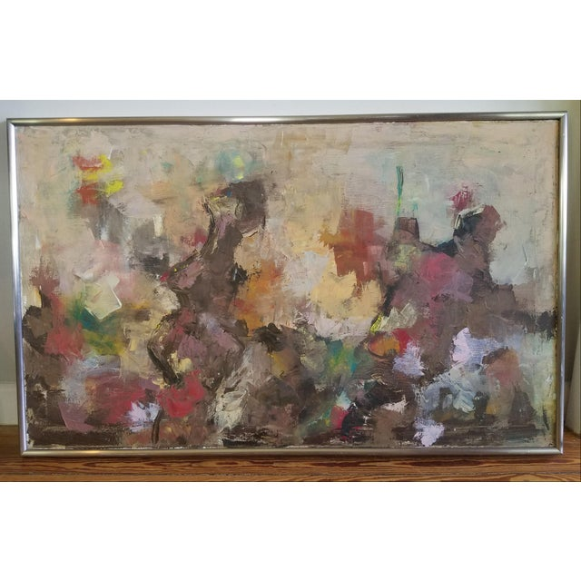 1964 Mid-Century Modern Abstract Painting by BB For Sale - Image 4 of 4