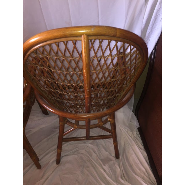 Chinoiserie Chinese Chippendale Rattan Chairs - a Pair - Image 10 of 11