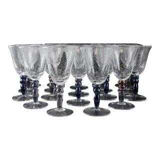 Venetian Art Glass Water Goblets - Set of 19