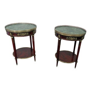 F. Linke Style Gueridon Tables - a Pair For Sale
