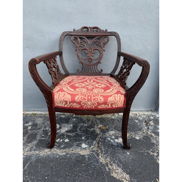 Antique Jacobean Accent Chair For Sale - Image 13 of 13