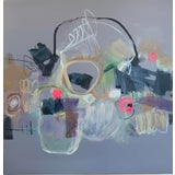 Image of Mixed Media Abstract Painting For Sale