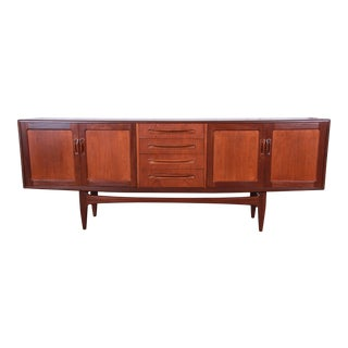 Victor Wilkins for G-Plan Danish Modern Teak Long Credenza, Newly Refinished For Sale