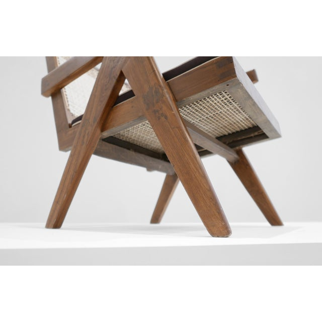 1955 Pierre Jeanneret Model Pj-Si-29-A Low Lounge Chair For Sale In Los Angeles - Image 6 of 8