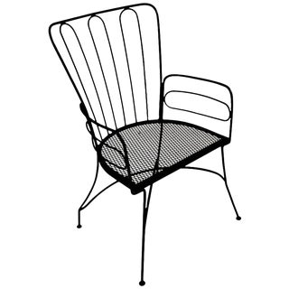 Wrought Iron Armchair After Weinberg For Sale