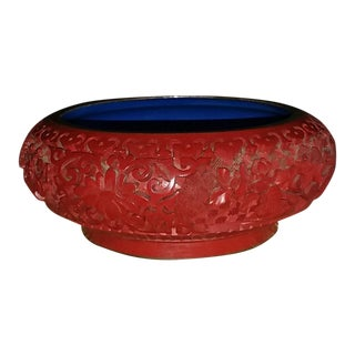 Vintage Chinese Cinnabar Bowl For Sale
