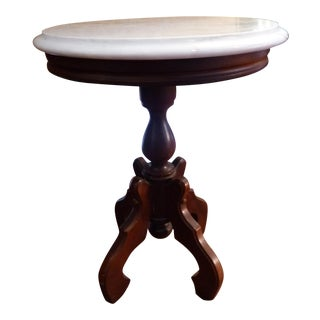 Traditional Marble Top Side Table