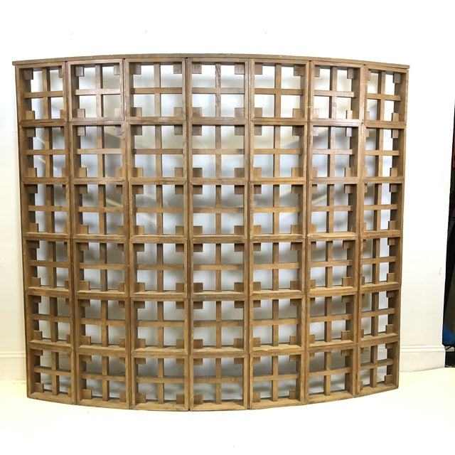 1960s Mid Century Modern Solid Wood Room Divider / Screen For Sale - Image 9 of 13