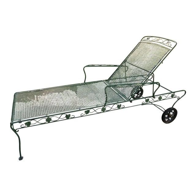 Russell Woodard Wrought Iron Chaise Lounge Chairish