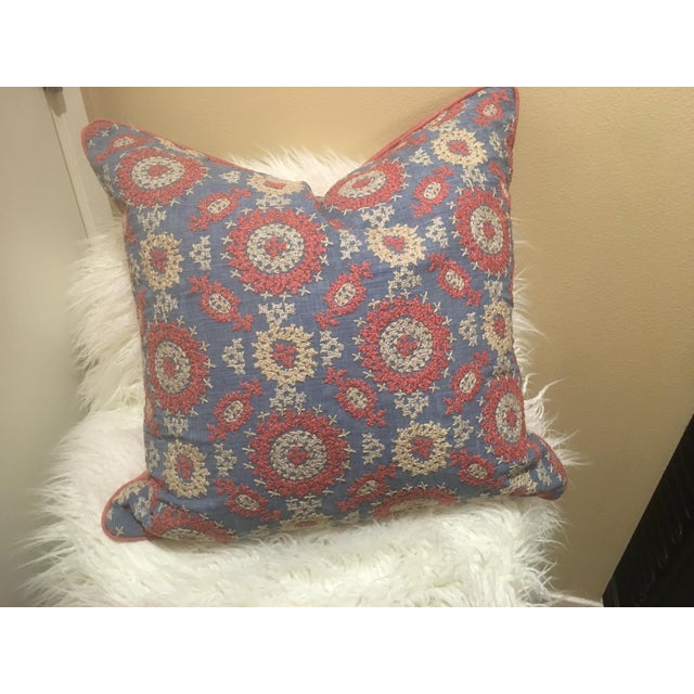 LAYLA embroidery pillow by Ralph Lauren This listing is for one decorative pillow measures 24x24 Note: no insert included...