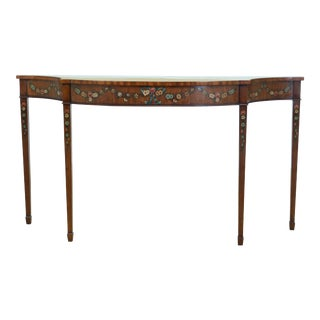 Maitland Smith Paint Decorated Mahogany Console Table For Sale