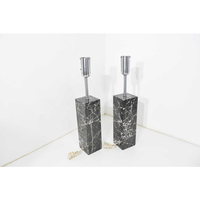 Marble Table Lamps by Nessen Studio - a Pair For Sale - Image 9 of 12