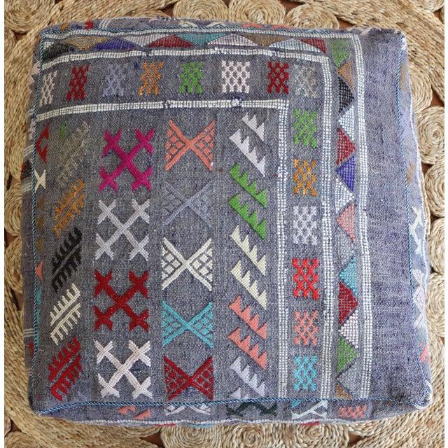 Mistic Moroccan Vintage Floor Pouf - Image 2 of 3