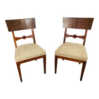 19th Century Klismos Chairs - A Pair For Sale