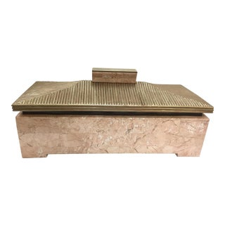 Maitland-Smith Mid-Century Modern Tessellated Stone Pagoda Box For Sale
