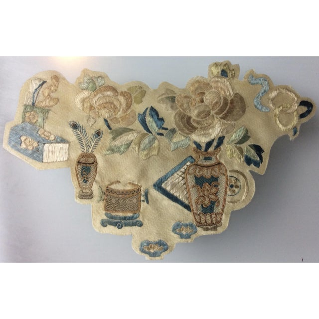 19th Century Chinese Framed Embroidery - A Pair For Sale - Image 10 of 11