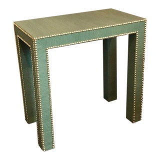 Celine Grasscloth Side Table For Sale