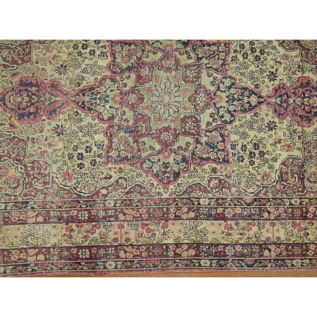 Textile 19th Century Lavar Kerman Rug, 4' x 6'4'' For Sale - Image 7 of 11
