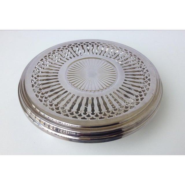 Silver Plate Celtic Platform Server Hot Plate Holder For Sale - Image 4 of 8