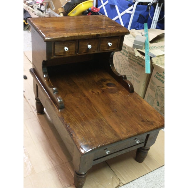 American 1960s Sugar Pine Step End Table For Sale - Image 3 of 5