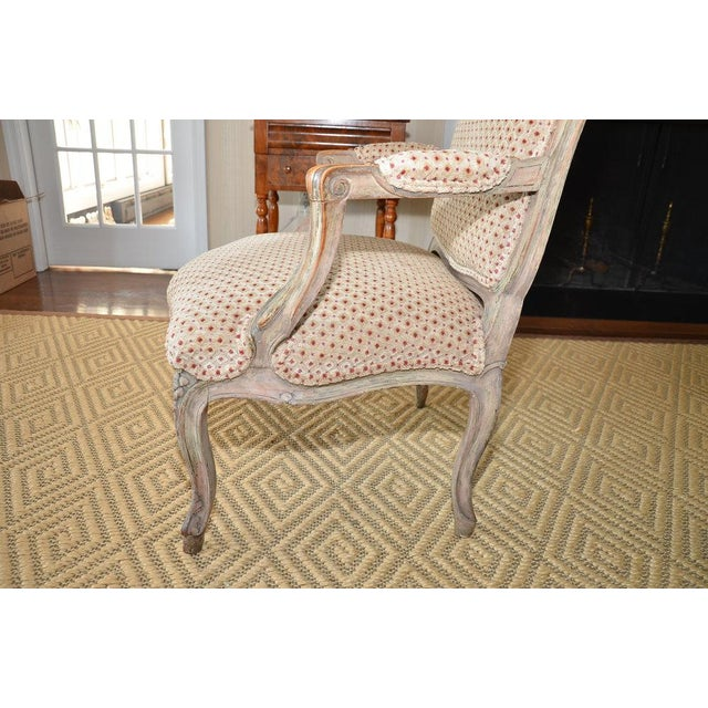 French Upholstered Bergere Chairs- A Pair - Image 6 of 10