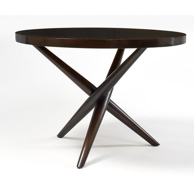 Mid-Century Modern T.H. Robsjohn Gibbings Tripod Base Side Tables - a Pair For Sale - Image 3 of 10
