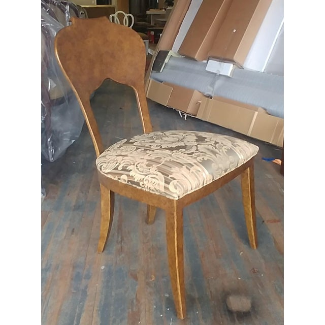 Henredon Furniture Arabesque Solid Antiqued Metal Ladies Desk Chair For Sale - Image 12 of 12