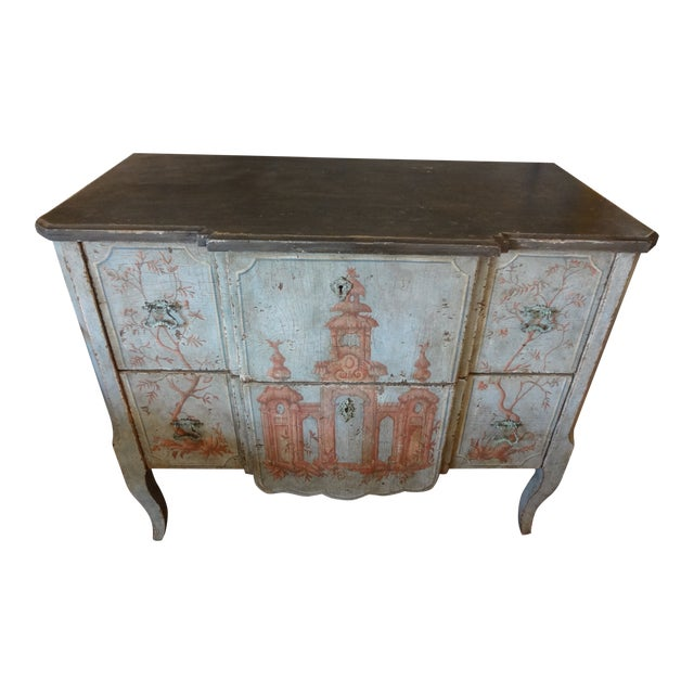 19th Century Italian Painted Commode For Sale