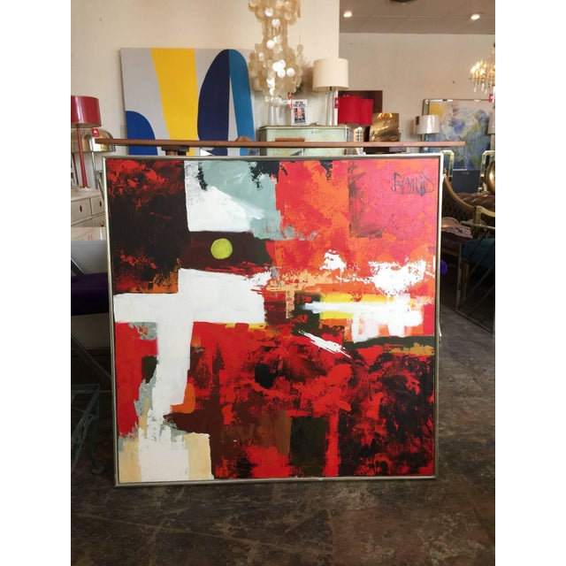 1960s Abstract Oil Painting by Lee Reynolds - Image 3 of 5