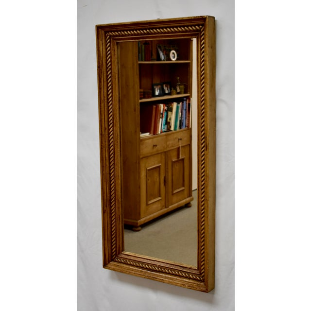 """The 2.5"""" wide frame molding of this handsome mirror is from reclaimed pine and has a nice rope twist applied to its face...."""