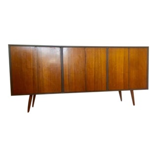 Mid-Century Walnut Credenza or Buffet For Sale