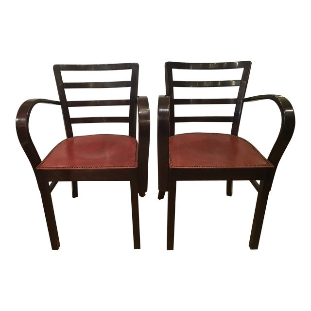 Hungarian Art Deco Armchairs - A Pair - Image 1 of 7