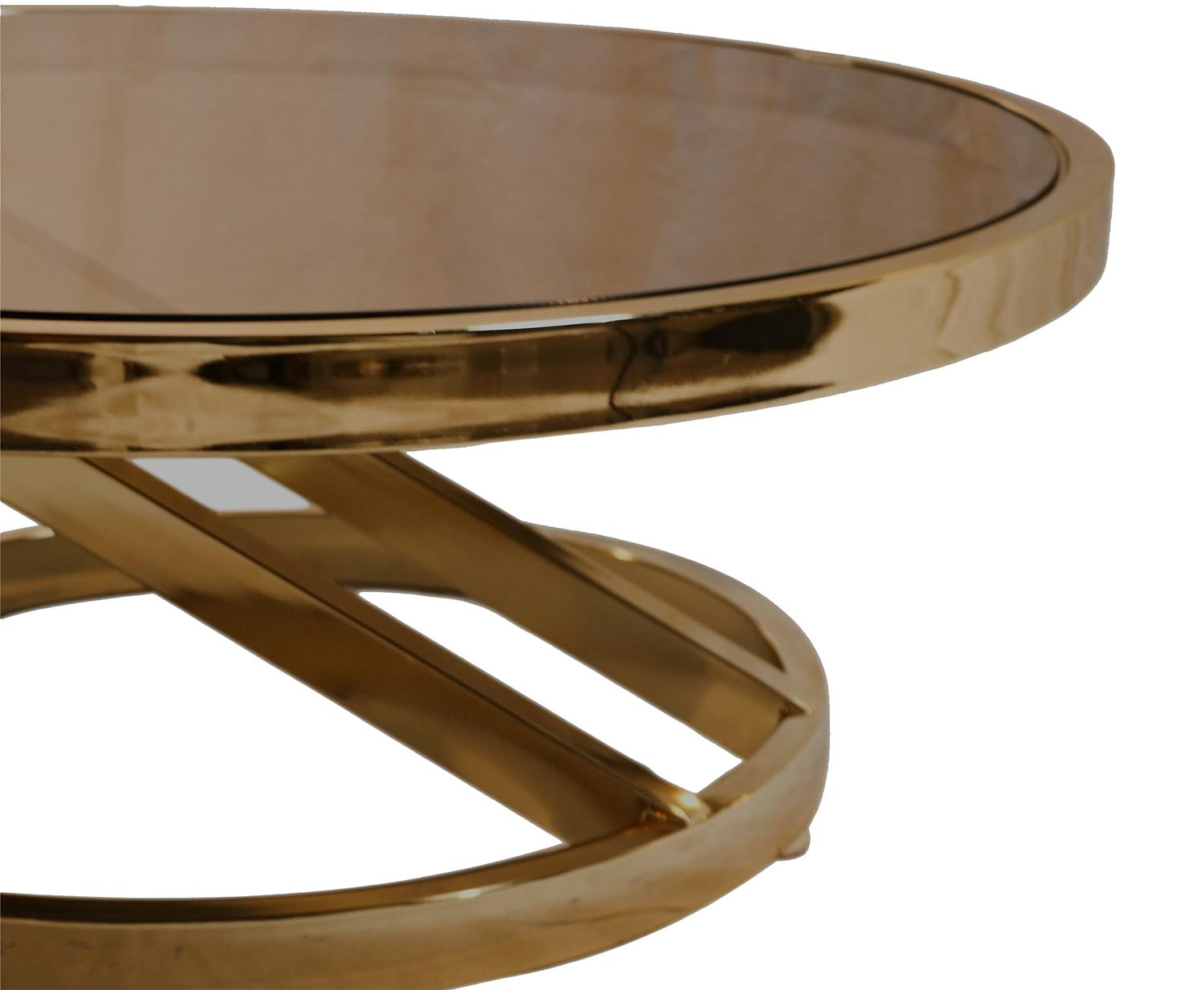 Milo Baughman Mid Century Modern Glass Brass Coffee Table For Sale In  Baltimore   Image 6