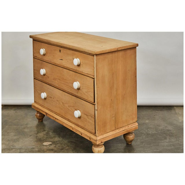 Bleached Pine Victorian Chest of Drawers For Sale In Los Angeles - Image 6 of 8