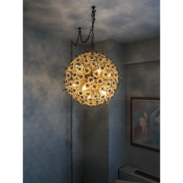 STUNNING Sputnik Chandelier found hanging in a condo of 98 year old woman in West Roger's Park, Chicago, Illinois. 11...