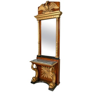 Swedish Neoclassical Console With Mirror