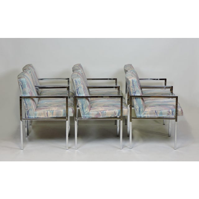 Mid-Century Modern Six Design Institute of America Dia Mid-Century Modern Chrome Dining Chairs For Sale - Image 3 of 11